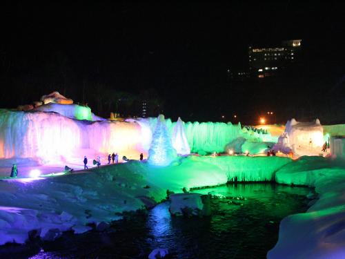 photo of Sounkyo Ice Waterfall Festival