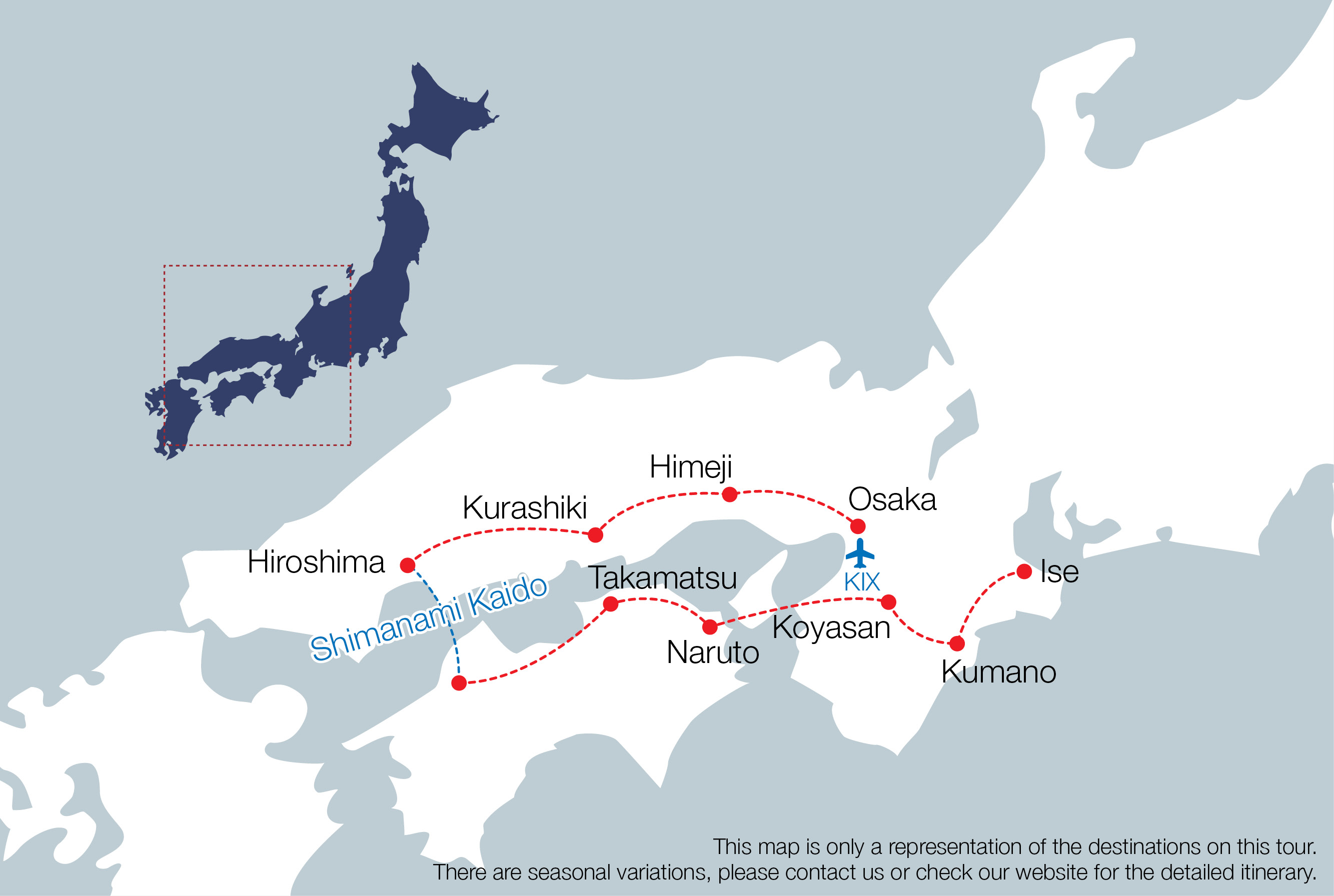 japan troup tour map photo