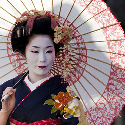 photo of Japanese geisha one