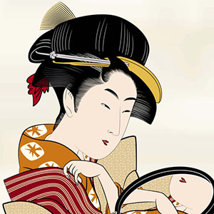 photo of Japanese Ukiyo-e