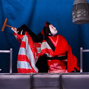 photo of Bunraku performance in Japan