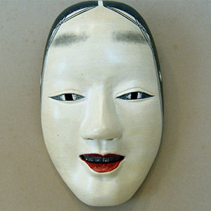 photo of face mask of Noh performance