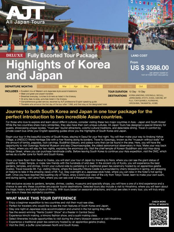 Highlights of Korea and Japan