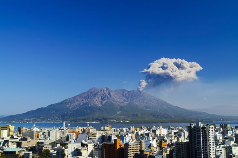 Japan Kyushu Kagoshima Prefecture Volcano Most Active Volcano in Japan