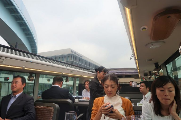 Tokyo Restaurant Bus Willer Express Restaurants in Tokyo Where to Eat in Tokyo Restaurants in Tokyo Day Tours in Tokyo Guided Tours in English in Japan Double Decker Bus Open Air Bus Japanese People