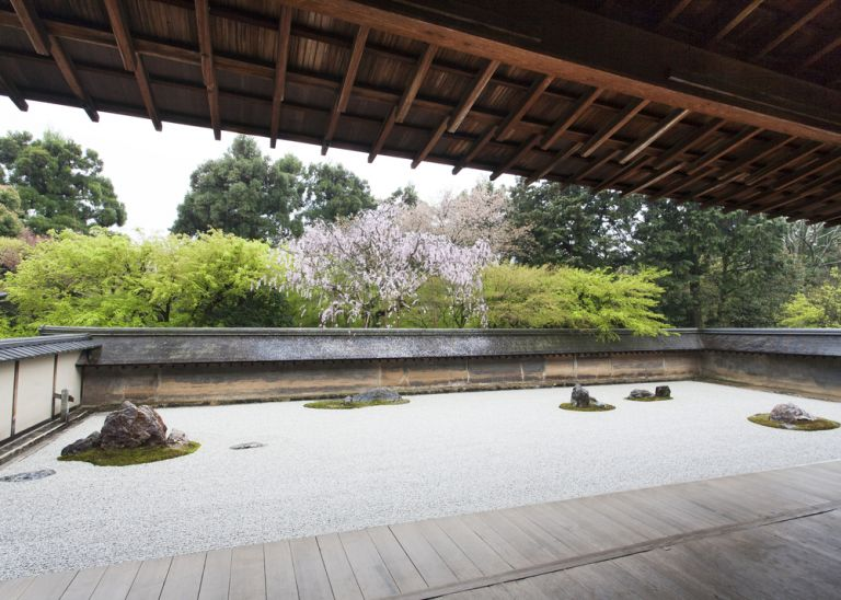 Ryoanji; Zen Buddhism; Temple; Ryoanji Temple; Zen Rock Garden; Kyoto, Japan; All Japan Tours; Kyoto; Where to Go in Kyoto in Three Days; Best Kyoto Itinerary; Cherry Blossoms; Autumn Leaves; Cherry Blossom Season;