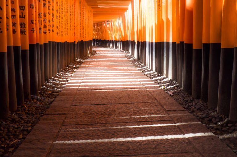 Fushimi Inari Shrine Vermillion Torii Gates Kyoto All Japan Tours