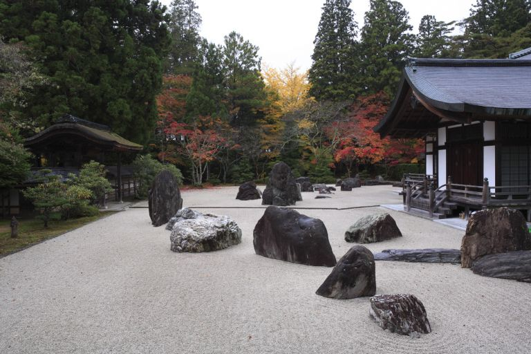 Kongobuji Temple Japanese Stone Garden Mt Koya Koyasan All Japan Tours