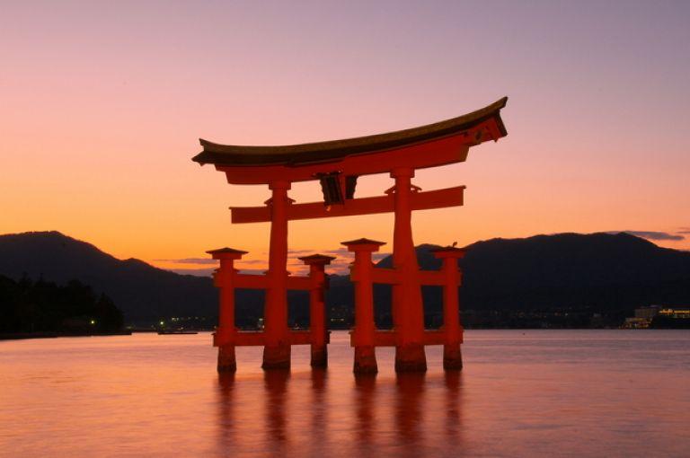 Miyajima Island Itsukushima Shrine floating torii gate