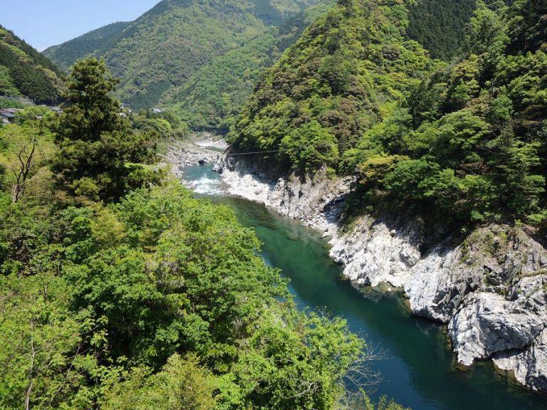 Oboke Gorge natural sceneries of Japan