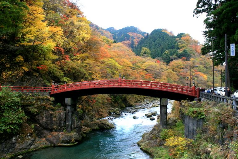 Nikko Tochigi Prefecutre Japan Autumn Leaves Best Places to Go in Japan for Autumn Leaves Autumn in Japan When to go to Japan in Autumn Where to Go in Japan in Autumn Day Trip from Tokyo Japanese Bridge Traditional Japanese Architecture