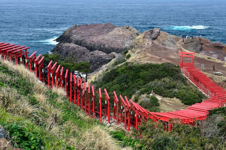 Motonosumi Inari Shrine Torii Gates Nagato Yamaguchi Prefecture Sea of Japan Tours