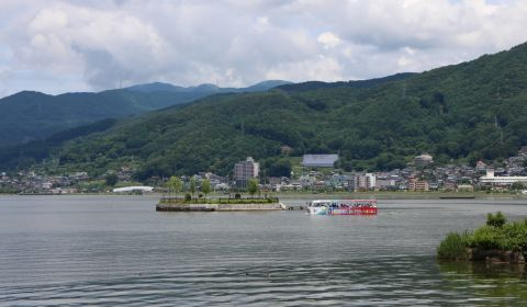 photo of Lake Suwa